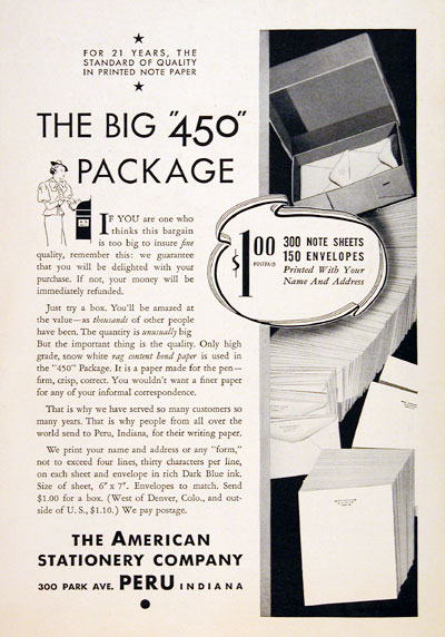 1936 American Stationary #007830
