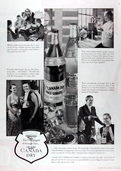1936 Canada Dry Ginger Ale #023805