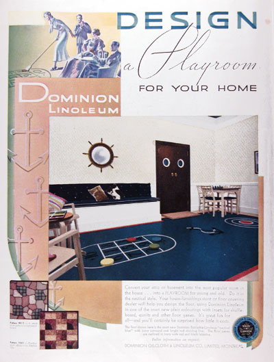 1936 Dominion Linoleum Playroom #023785