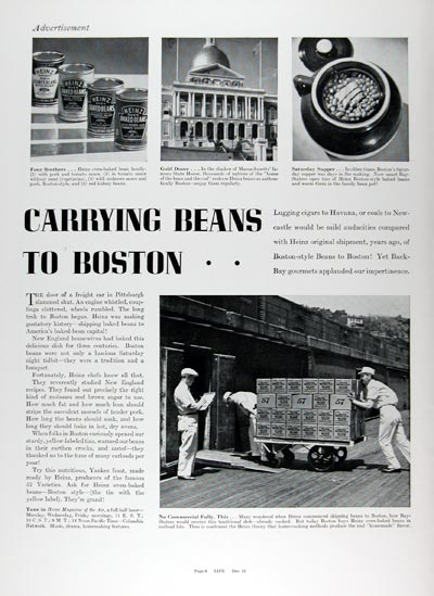 1936 Heinz Boston Baked Beans #024202