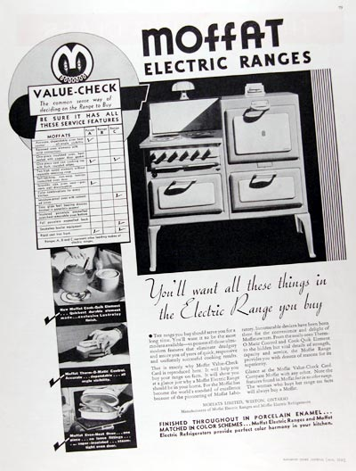 1936 Moffat Electric Range #023797