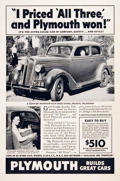 1936 Plymouth Coupe #007813