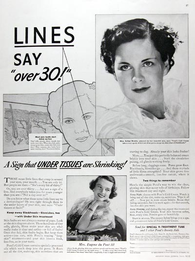 1936 Pond's Cold Cream #023798