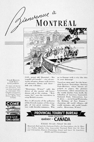 1936 Montreal Tourism #007821