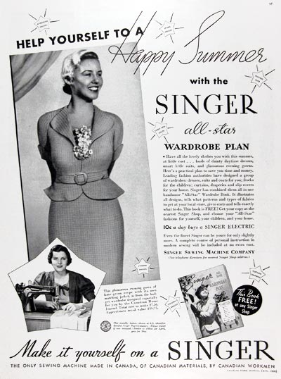 1936 Singer Sewing Machines #023803