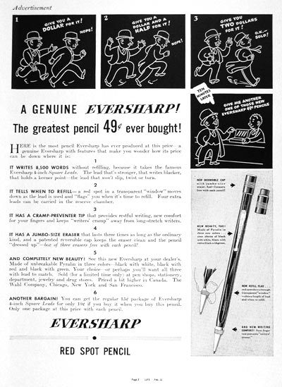 1937 Eversharp Pencil #003322