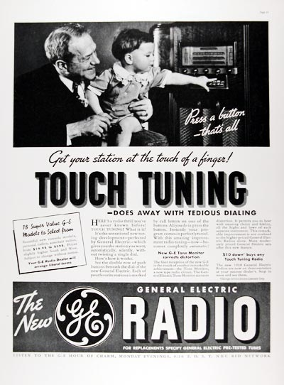 1937 General Electric Radio #024221