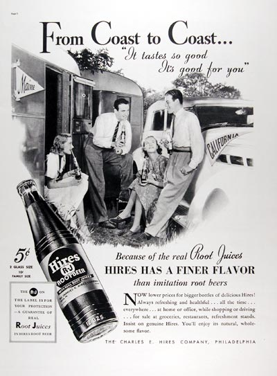 1937 Hires Root Beer #024215