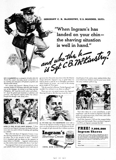 1937 Ingram's Shaving Cream #003304