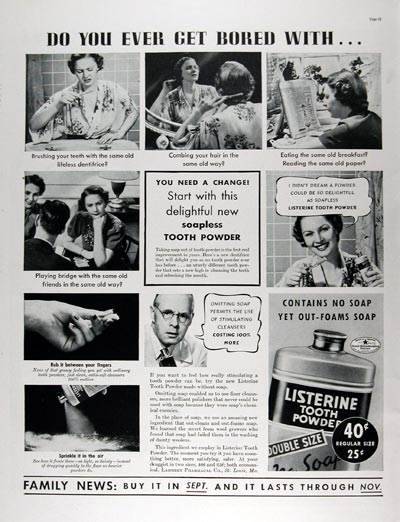 1937 Listerine Tooth Powder #024273