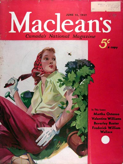 1937 Macleans Cover ~ Gardening #017274