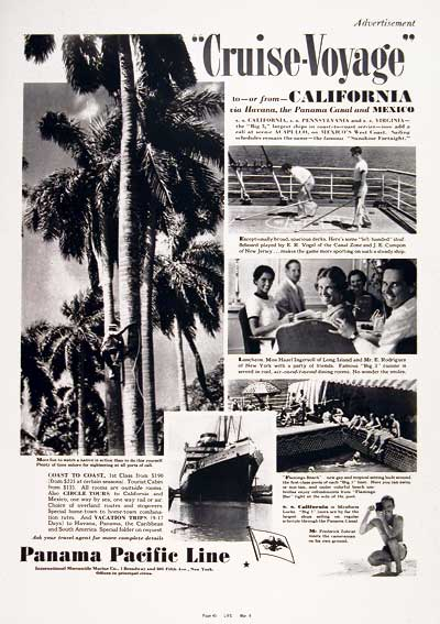 1937 Panama Pacific Cruise Lines #003938