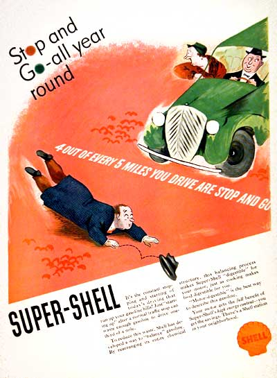 1937 Shell Super Gasoline #003316