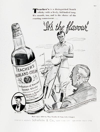 1937 Teacher's Cream Whiskey #024266