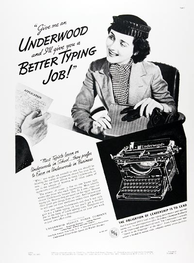 1937 Underwood Typewriters #024212