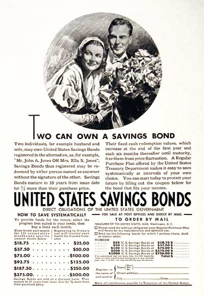 1937 U.S. Savings Bonds #003532