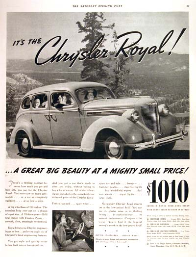 1938 Chrysler Royal #002721