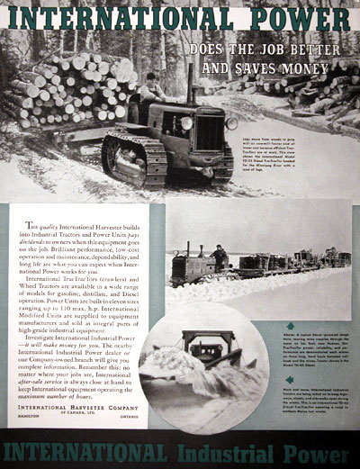 1938 International Harvester Diesel Tractors #007901