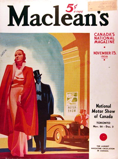1938 Macleans Cover - National Motor Show #017286