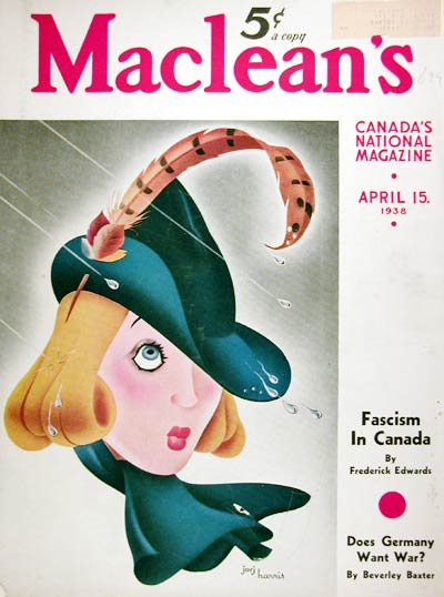 1938 Maclean's Cover - Spring Showers #008050