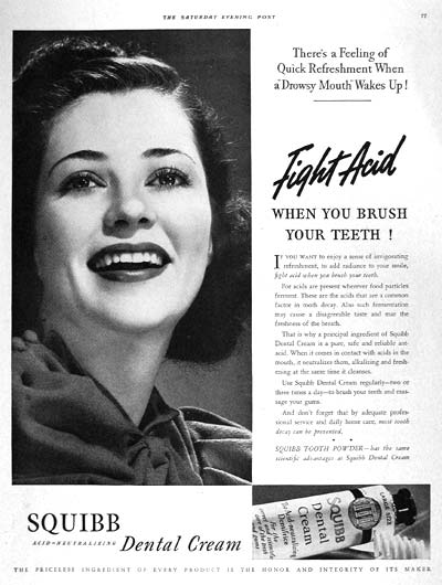 1938 Squibb Dental Cream #002720
