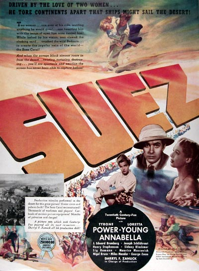 "1938 ""Suez"" Movie Ad #024932"