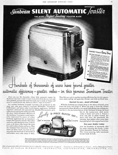 1938 Sunbeam Toaster #002708