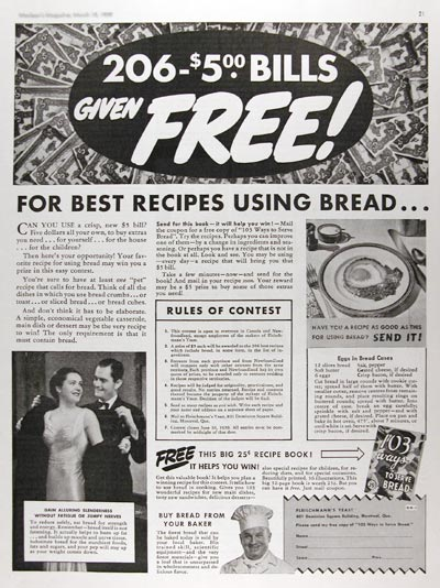 1939 Bread Recipes #017357