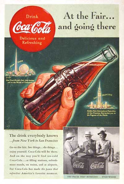 1939 Coca Cola World's Fair #003541