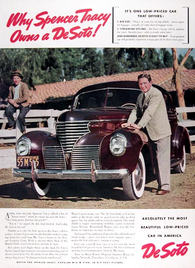 1939 DeSoto Spencer Tracy #024316