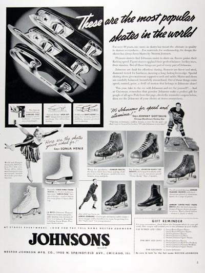 1939 Johnsons Ice Skates #024330