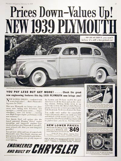 1939 Plymouth Deluxe Sedan #008035