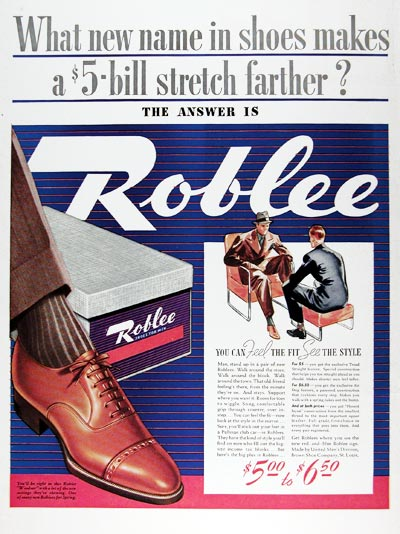 1939 Roblee Shoes #024309