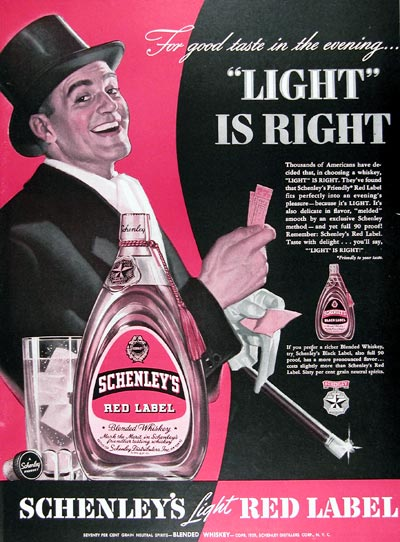 1939 Schenley's Red Label Whiskey #024321