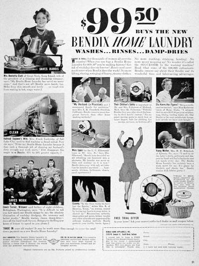 1940 Bendix Home Laundry #006638
