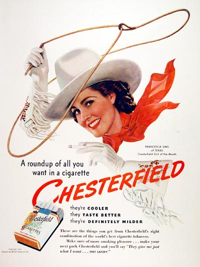 1940 Chesterfield Cigarettes #006641