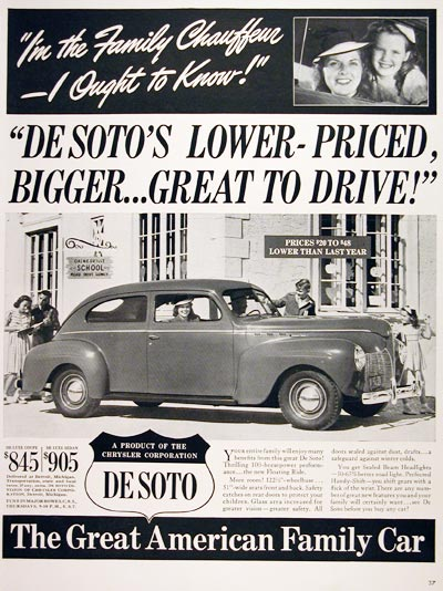 1940 DeSoto Deluxe Coupe #006718