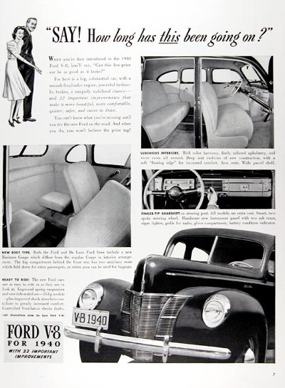 1940 Ford Deluxe V8 #024331