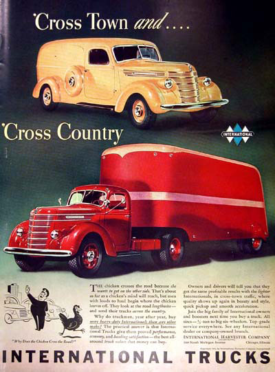 1940 International Trucks Vintage Ad #000367
