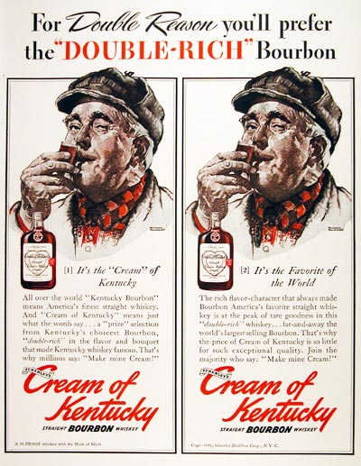 1940 Schenley Cream of Kentucky #006722