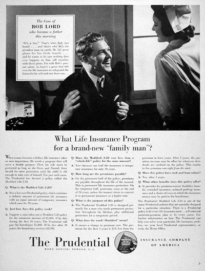1940 Prudential Life Insurance #006637
