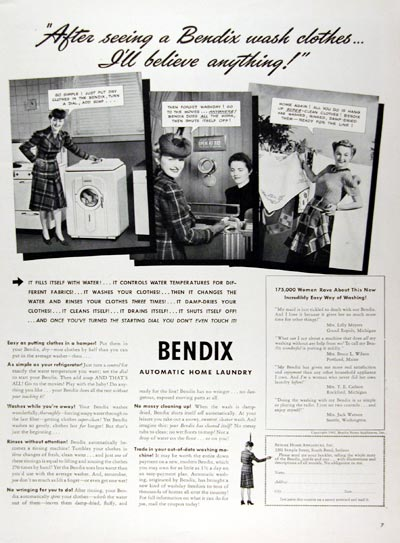 1941 Bendix Washing Machine #008873