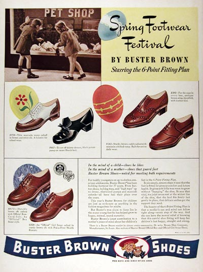 1941 Buster Brown Shoes #008971