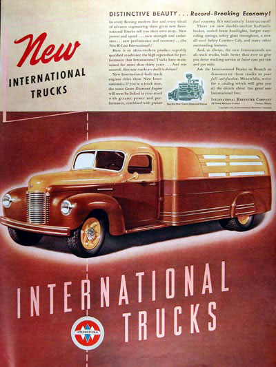 1941 International Stake Trucks Vintage Ad #000374