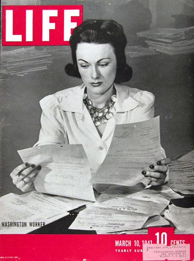 1941 Life Cover ~ Washington Worker #008868