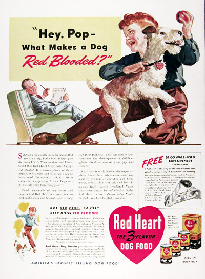 1941 Red Heart Dog Food #008897