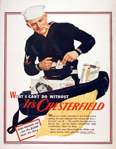1943 Chesterfield Cigarettes #007487