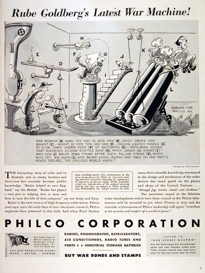 1943 Philco Rube Goldberg #007297