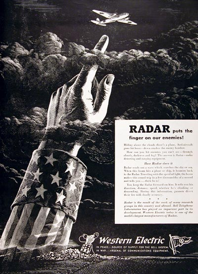 1943 Western Electric Radar #007308