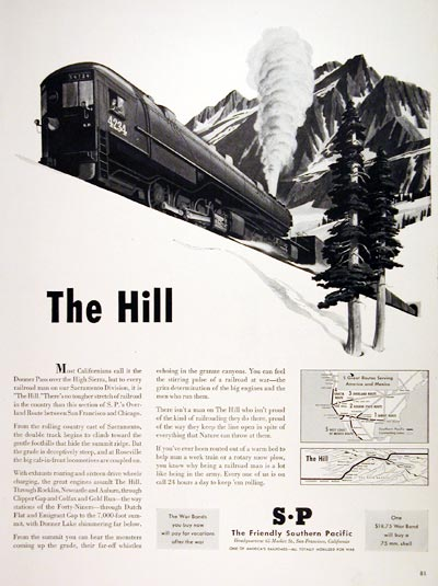 1943 Southern Pacific Railroad #007040